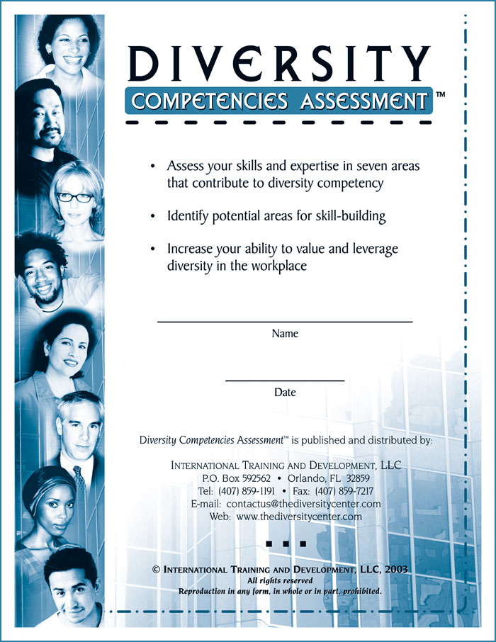 "Cover of ""Diversity Competencies Assessment"""