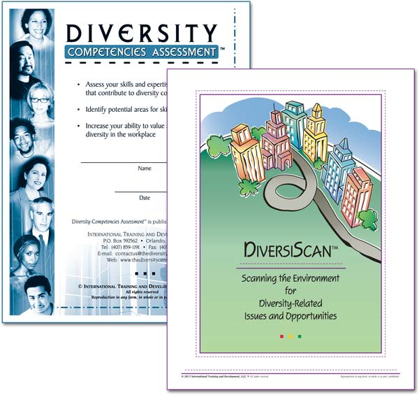 "Covers for ""Diversity Competencies Assessment"" and ""DiversiScan™: Scanning the Environment for Diversity-Related Issues and Opportunities"""