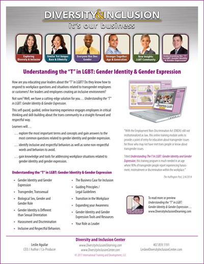 """Understanding the 'T' in LGBT: Gender Identity and Gender Expression"" eLearning Module"