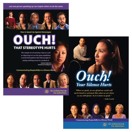 "Covers for ""Ouch! That Stereotype Hurts"" and ""Ouch! Your Silence Hurts"" DVD Training Program Bundle"