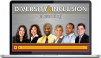 Laptop screen showing Diversity & Inclusion eLearning Program