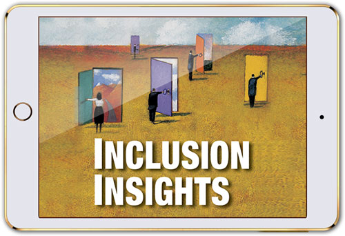 """Mobile device with screen that reads """"Inclusion Insights"""" (streaming licenses)"""
