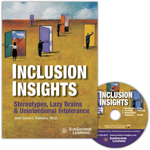 """Inclusion Insights"" Package showing DVD Cover and Disc"