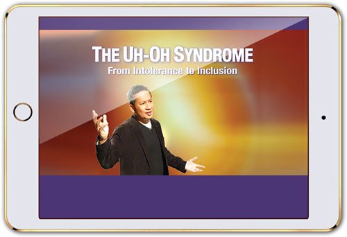 "Mobile device with screen that reads ""The Uh-Oh Syndrome"" (streaming licenses)"