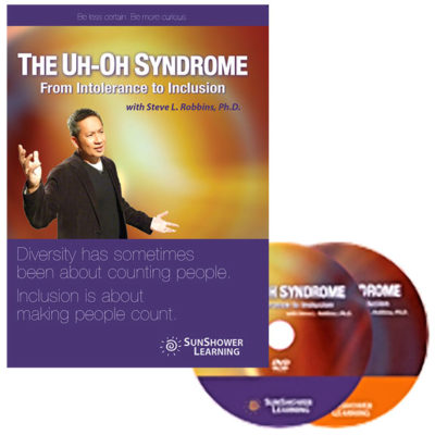"""The Uh-Oh Syndrome: From Intolerance to Inclusion"" Package showing DVD Cover and DVD Discs"