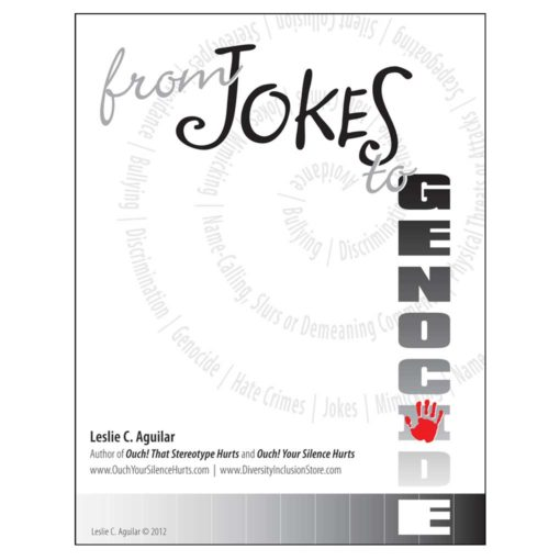 "Cover of ""From Jokes to Genocide"" ePublication by Leslie Aguilar"