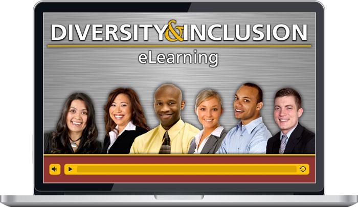 Laptop screen showing Diversity & Inclusion eLearning Program
