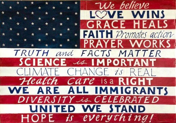 American Flag by Vicki Brandt
